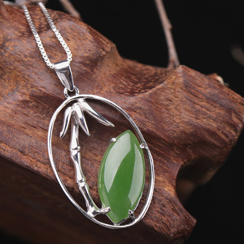 2019 Cluci Cage Pendants Choker Necklace Asg Natural Hetian Pendant With The New 925 Sterling Jewelry With Bamboo Certificate 2019 Cluci Cage Pendants Choker Necklace Asg Natural Hetian Pendant With The New 925 Sterling Jewelry With Bamboo Certificate