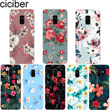 ciciber Plant Flower for Samsung A7 2018 Phone Case Galaxy A5 A6 A8 A9 A3 2017 2016 A6S Plus Star Cover Soft TPU Coque