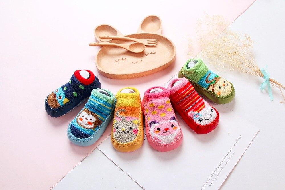 New Baby Shoes Socks Cartoon Kids Indoor Floor Antislip Rubber Sole Baby Boy Socks Infant Cute