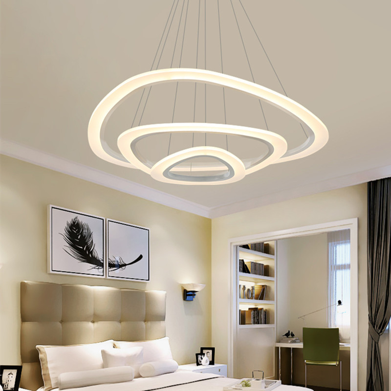 Modern Pendant Lights Living Dinging Room LED Light Fixtures Restaurant Hanging Lamp Luminaires Dimmable With Remote AC90-260V modern geometry metal led pendant lights acrylic living room led pendant lamp bedroom led pendant light hanging light fixtures