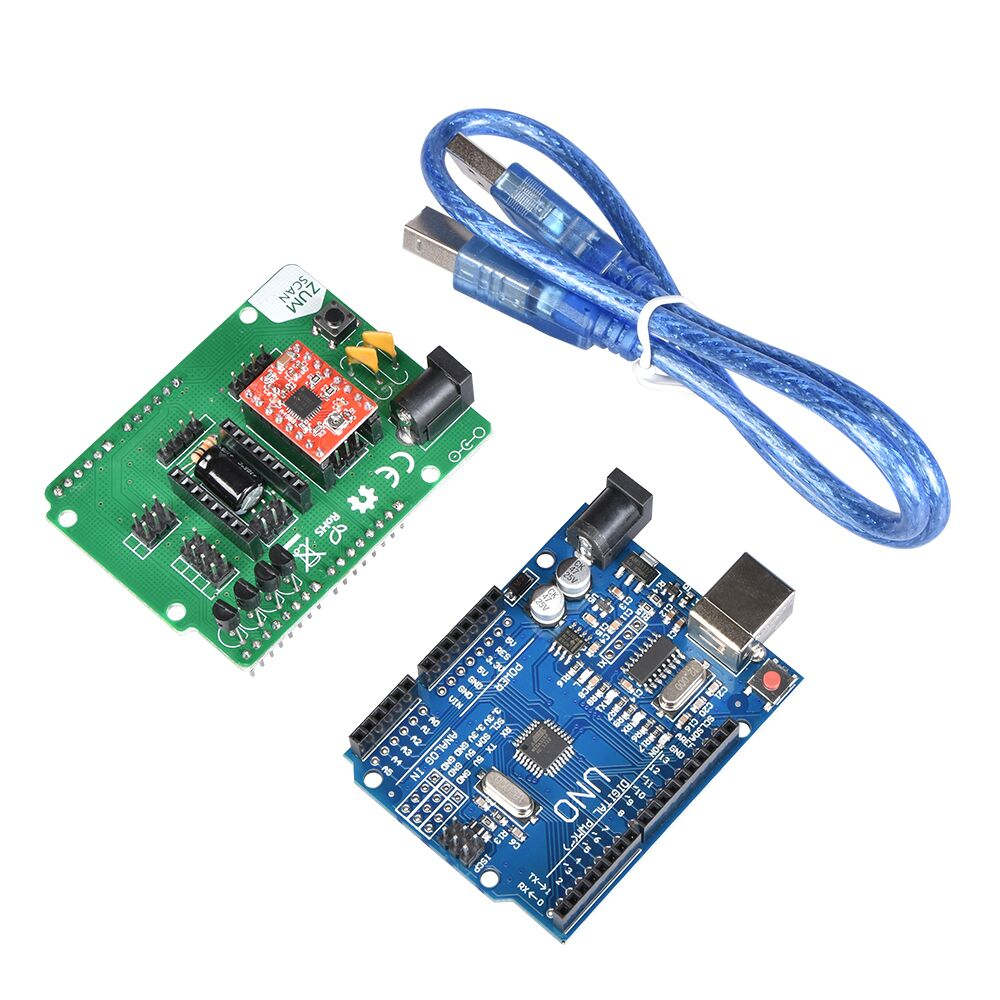 3D Scanner Board Kit Ciclop 3D Scanner Open Source DIY Accessories UNO Controller And ZUM Scan Expansion Board Kits With A4988 new arrival 32bits dual laser 3d scanner jt scan 3d printer scan 2mp cmos image sensor usb interface 3d scan for 3d printer