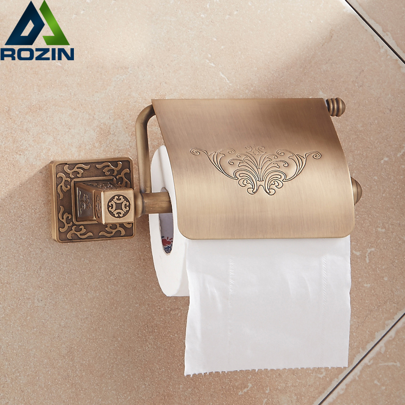 Wholesale And Retail Free Shipping Wall Mount Bathroom Toilet Paper Holder Bathroom Roll Toilet Paper Rack oil rubbed bronze square toilet paper holder wall mounted paper basket holder