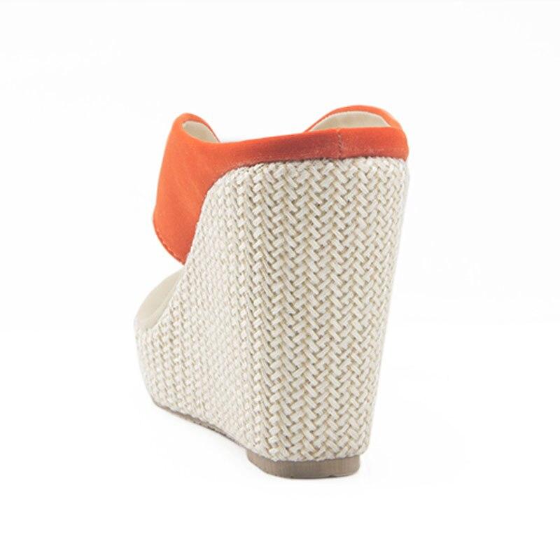 3d9c307ef2ec Hot Sale Women Platform High Heels Wedge Slippers Big Size 33 41 Open Toe Flip  Flops Ladies Casual Open Toe Summer Shoes Sandal-in Slippers from Shoes on  ...