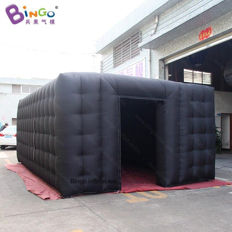 Tente noire gonflable faite sur commande de tissu de PVC de 7X3X2.5 mètres avec la tente de jouet de moteur