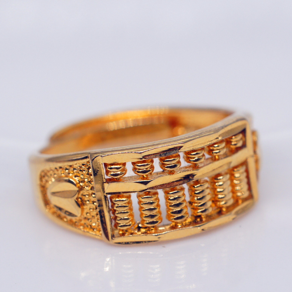 Wholesale Gold Filled Rings for Women Luxury Vintage Wedding Jewelry Gifts Color Abacus beads Girls