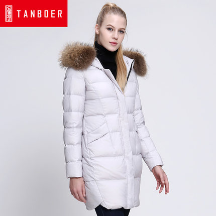 2016 new hot winter Thicken Warm woman Down jacket Coats Parkas Hooded Raccoon Fur collar End long plus size 2XXL Straight thicken warm 2017 new winter jacket women s parkas coats large raccoon fur collar winter jacket collar hooded fashion quality