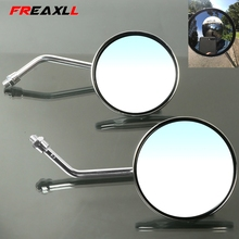 Motorcycle Rearview Mirrors 8/10mm Retro Stainless Steel Side Mirror For KAWASAKI ZZR600 VERSYS Z1000 12R ZX9R Z900 Z650