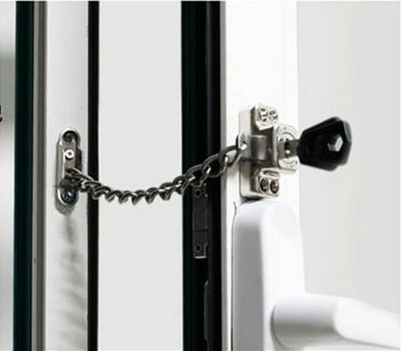 Chain window Lock/Steel window Chain Lock Hardware. & Stainless Steel Window Guard Window Door Restrictor Child Safety ...