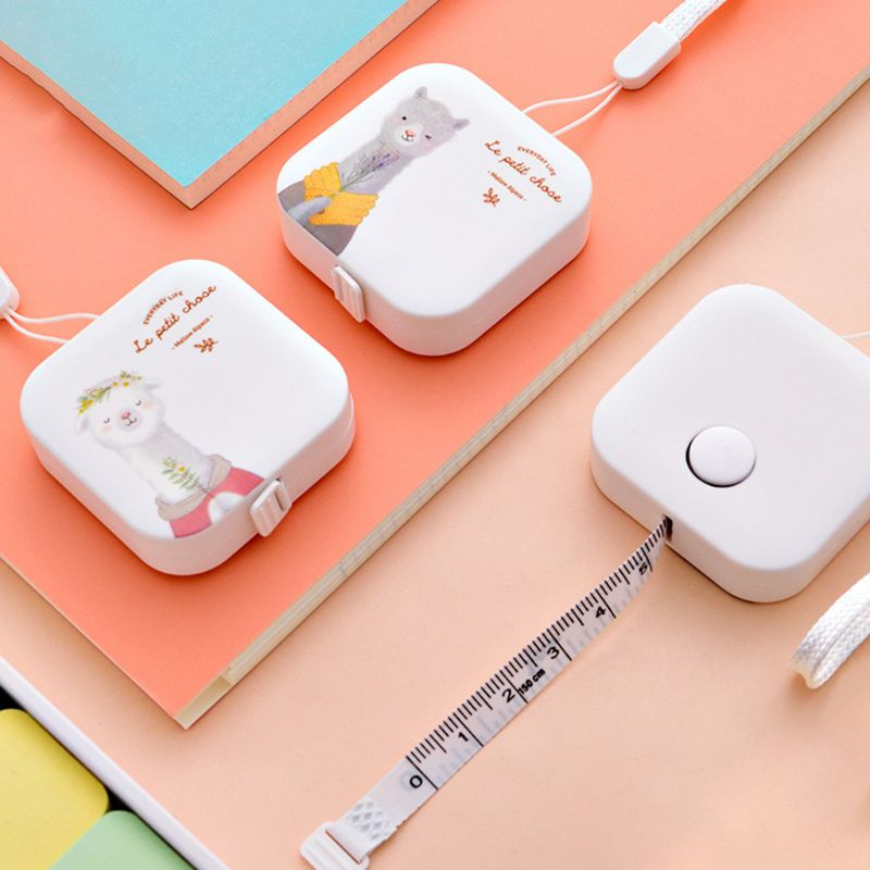Lovely Tape Measure Candy Color Leather Ruler Box Portable Fashion Design School Supply Student Gift 1.5m