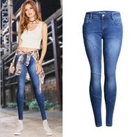 Fashion Woman Skinny Low Waist Jeans Female hot sell Denim Pencil Pant super elastic comfortable sexy Mention Hip jeans trousers