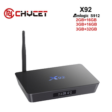 Original 3GB 16GB/32GB X92 Android 6.0 TV Box Amlogic S912 Octa Core Fully Loaded 2.4G 5G Wifi 3D 4K Smart TV player Set Top box