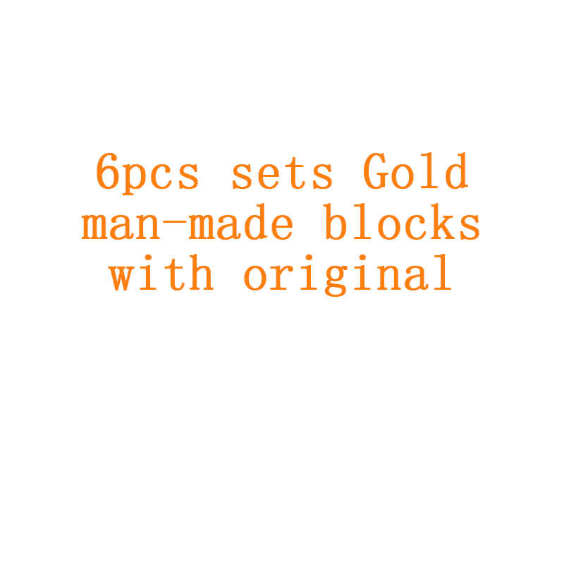 Hot 6 IN 1 Classic Gold figures Model Building Blocks Compatible brand weapon Bricks Toys for Children