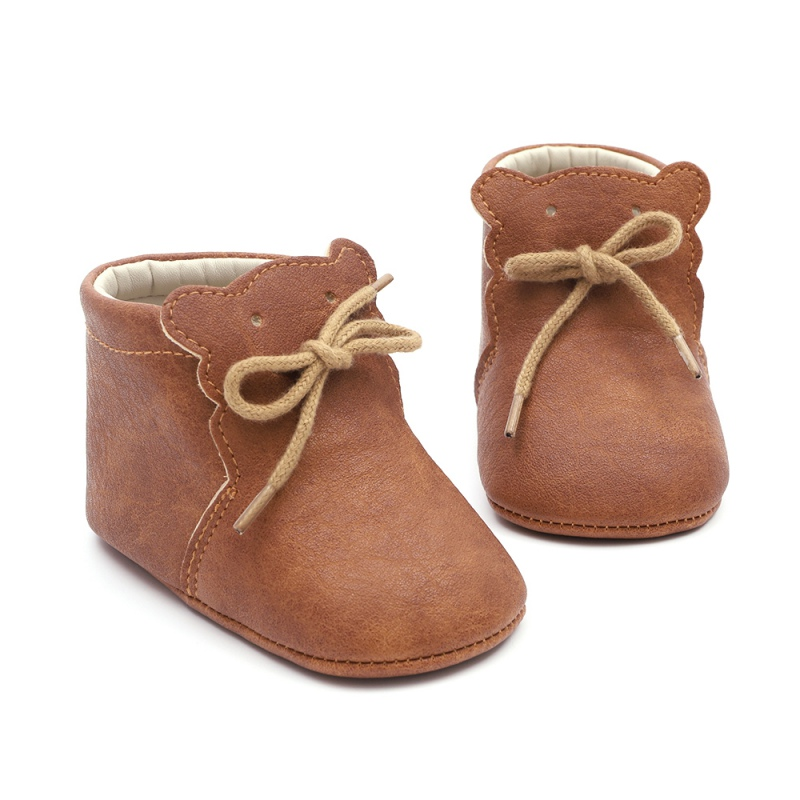 Spring Autumn Baby Infant Bear Pattern Soft Sole Shoes First Walkers Boys Girls Casual Walking Shoes