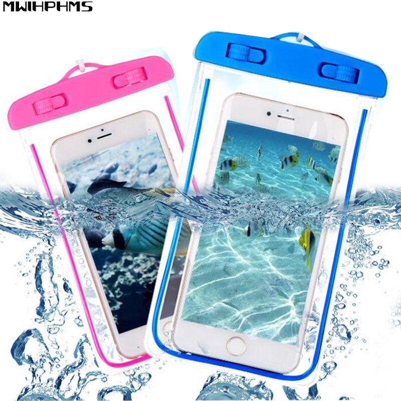 Bolsa impermeable con bolsa luminosa de teléfono bajo el agua para - Accesorios y repuestos para celulares - foto 1