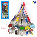 Japanese Anime Kuroko No Basuke Cartoon Pendant Metal Alloy Cell Phone Strap Gift Figures Lanyard Collection Mobile Phone Chains