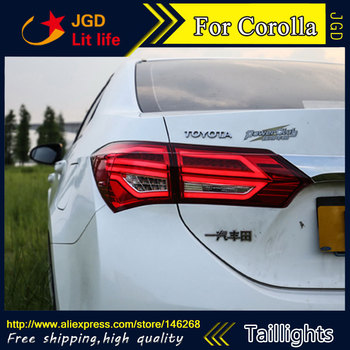 Car Styling tail lights for Toyota Corolla 2014-2016 taillights LED Tail Lamp rear trunk lamp cover drl+signal+brake+reverse