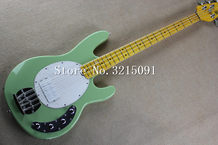 free shipping best musical instruments music man stingray 4 green electric bass with active. Black Bedroom Furniture Sets. Home Design Ideas