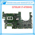 Original laptop motherboard para asus g750jw 2d conector intel ddr3 não-integrado i7-4700hq