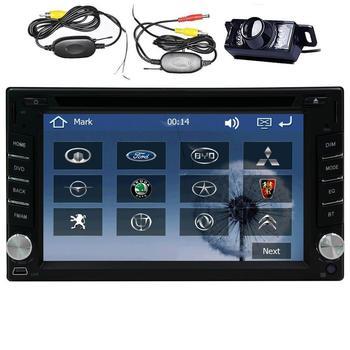 2 Din GPS автомобильный dvd плеер с Bluetooth беспроводным аудио приемником 6,2 дюйма Автомобильный стерео FM/AM PC Авто Радио + беспроводная задняя камер