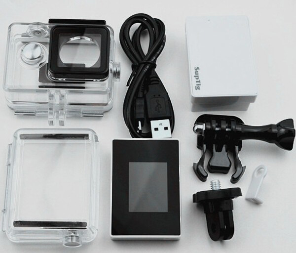 ФОТО XIAOMI YI Sport camera accessories External Back up battery w/cable+External screen LCD display+waterproof case set