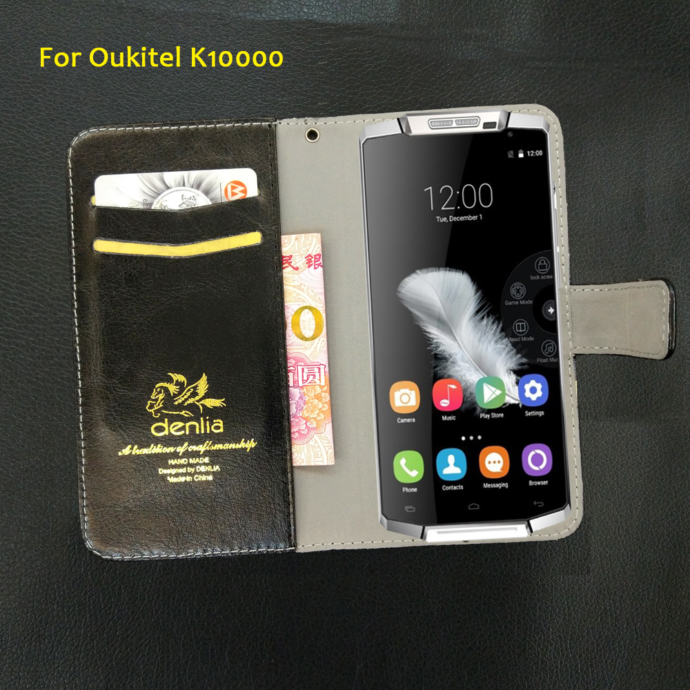 TOP New! Oukitel K10000 Case 5.5 5 Colors Slip-resistant Leather Case Exclusive Phone Cover Credit Card Holder Wallet+Tracking