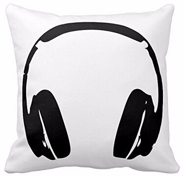 New Arrival Hip Hop font b Headphones b font Luxury Printing Style Square Pillowcase Throw Pillow