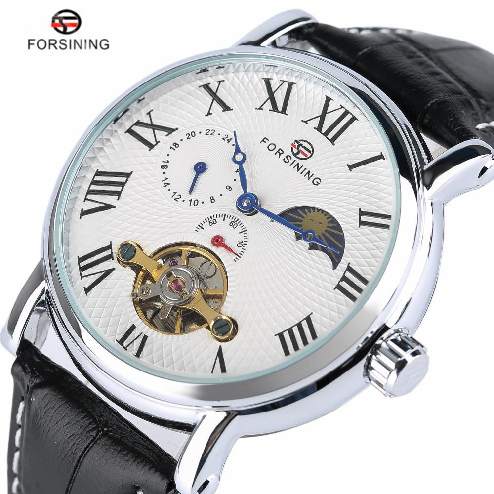 Prix pour Forsining 2017 nouveau automatique mécanique hommes de sport montre de mode main vent montres homme heures horloge relogio masculino