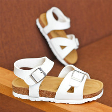 2017 New Fashion Children's Sandals Boys Girls Casual Beach Sandals Students Cool Nice Shoes Comfortable Hook & Loop Solid Solor