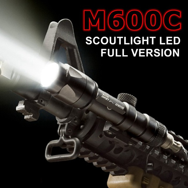 Element Airsoft SF M600C Weapon Tactical Scout light LED Tactical Rifle Flashlight element airsoft hunting military led weapon light flashlight pocket for rifle m952v gun tactical black 180 lumens ex 192
