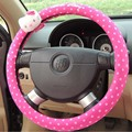Car Coves Hello Kitty Car Steering Wheel Cover Car Accessory Steering-wheel Rear View Mirror Cover  Seat Belts Cover