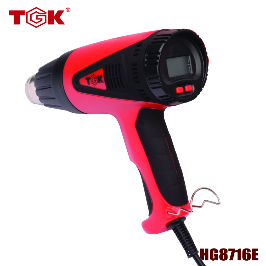ФОТО (1 piece/lot) 300 Hours Long Life Workshop Tool Kit Shrink Wrap Gun CE Quality LCD Display HG8716E For welding and slodering