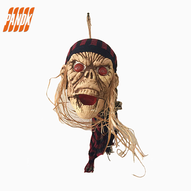 halloween ghost hanging props tricky scary halloween skull head party halloween decorations pendant ghost bar free