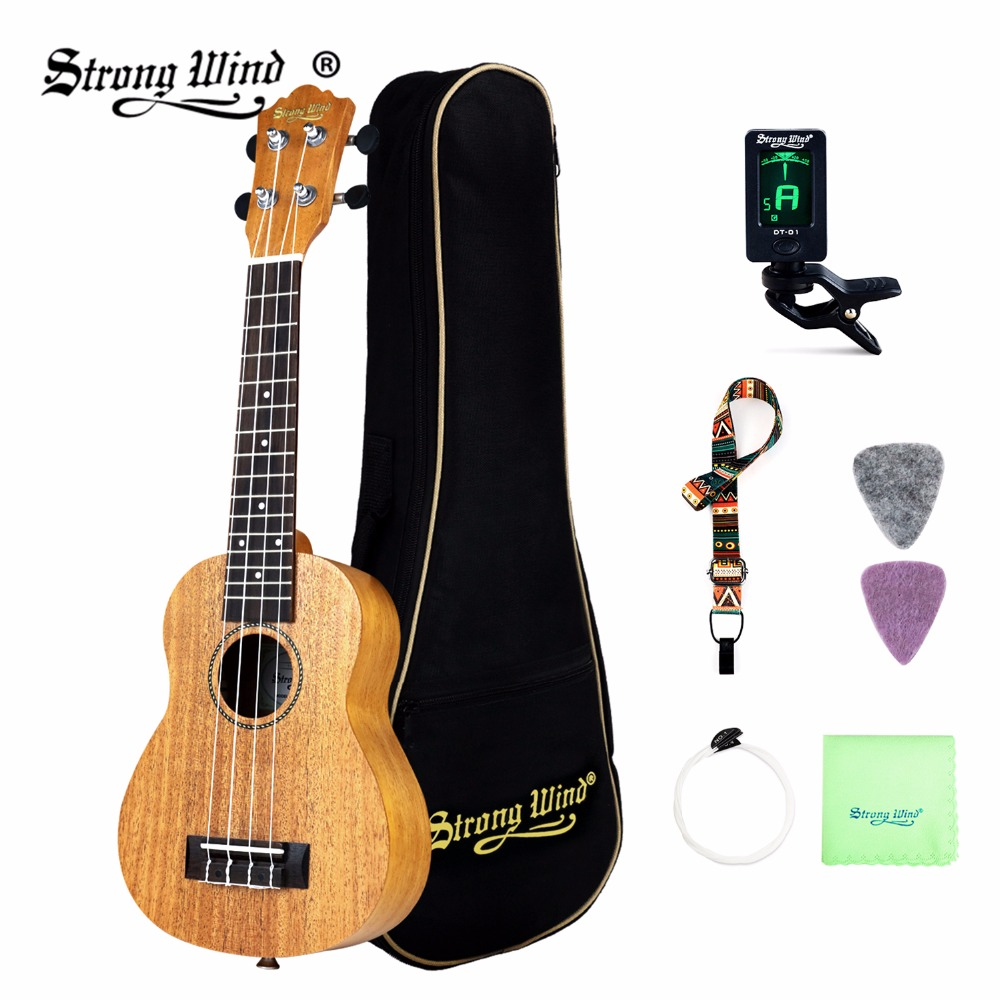 Strong Wind Ukulele 21 Inch 4 Strings Guitarra Rosewood Ukulele Hawaii Guitar Soprano Ukelele With Accesorios send gifts