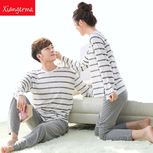 Spring and Autumn Youth Men Pajama Hedging casual Sets man Long-Sleeve O-Neck Printing Lounge Sleep Set modal free shipping ZN