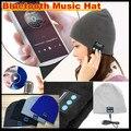 Inverno gorro de malha chapéu Bluetooth headset mãos livres música Mp3 Speaker Mic tampão mágico chapéus esporte para o menino & menina e adultos