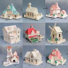 3D деревянная головоломка, строительная модель, деревянный дом, вилла, архитектура, подарок для ребенка, ручная работа, сборная игра, набор для строительства деревянных изделий, 1 шт