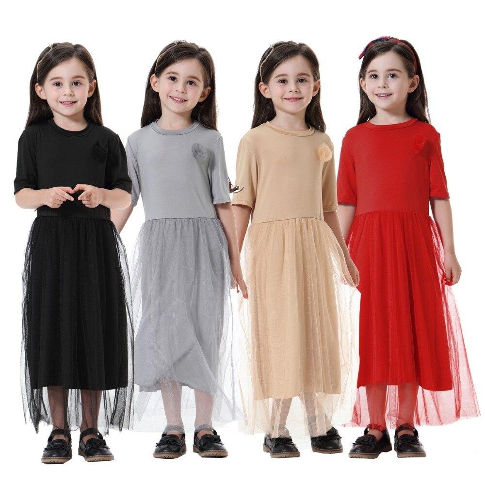 af1658cc814 Fashion Muslim Children Abaya Girl Maxi Dress Traditional Long Robe Gowns  Kimono Jubah Ramadan Middle East Arab Islamic Clothing