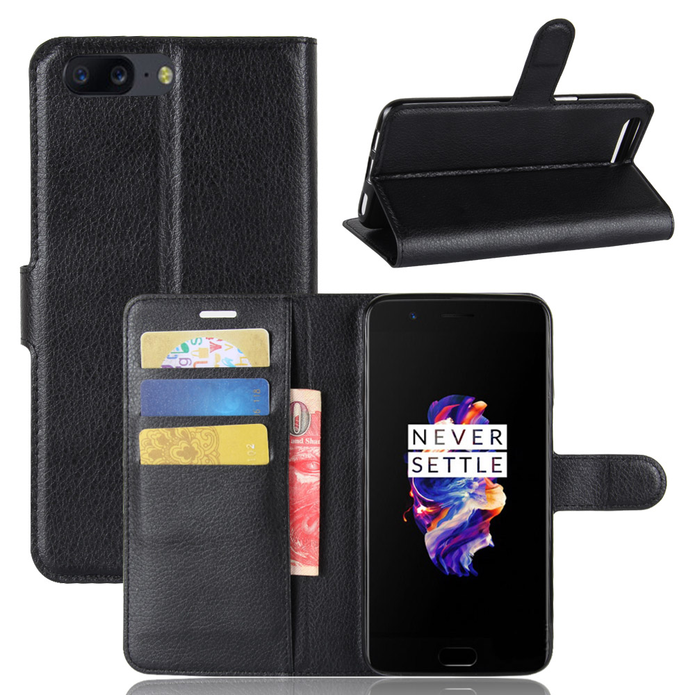 UTOPER sFor Oneplus 5T 5 Case Flip Wallet PU Leather For Oneplus5T Cover Magnetic Fundas Silicone Case For One plus 5 5T Cover