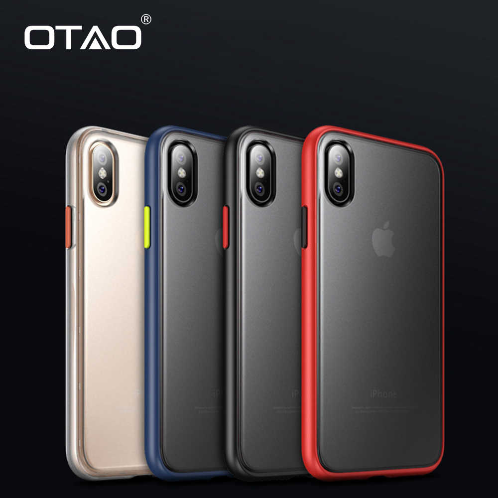 Otao mais novo ultra fino caso transparente para iphone xs max xr 7 8 6s mais à prova de choque capa completa para iphone x 7 plus 9 coque