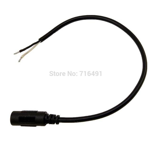 Custom-made Cable 2PCS 12V 5.5mm x 2.5mm DC Power Female Plug Jack Adapter with Cord Cable about 50CM for Laptop high quality