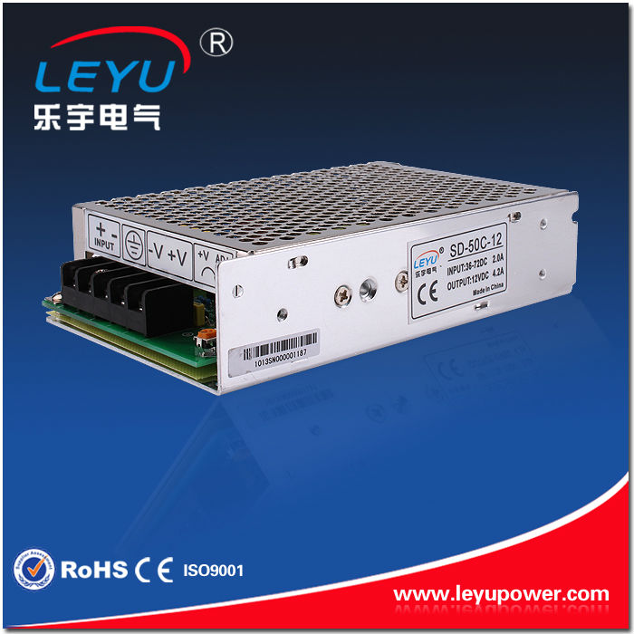 DC DC Converter  50W SD-50A-12  12V to 12v converter single output switching power supply meanwell 12v 350w ul certificated nes series switching power supply 85 264v ac to 12v dc