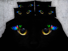 3d bedding set cat eyes print twin queen king super king Modal duvet cover set bedlinen bedclothes