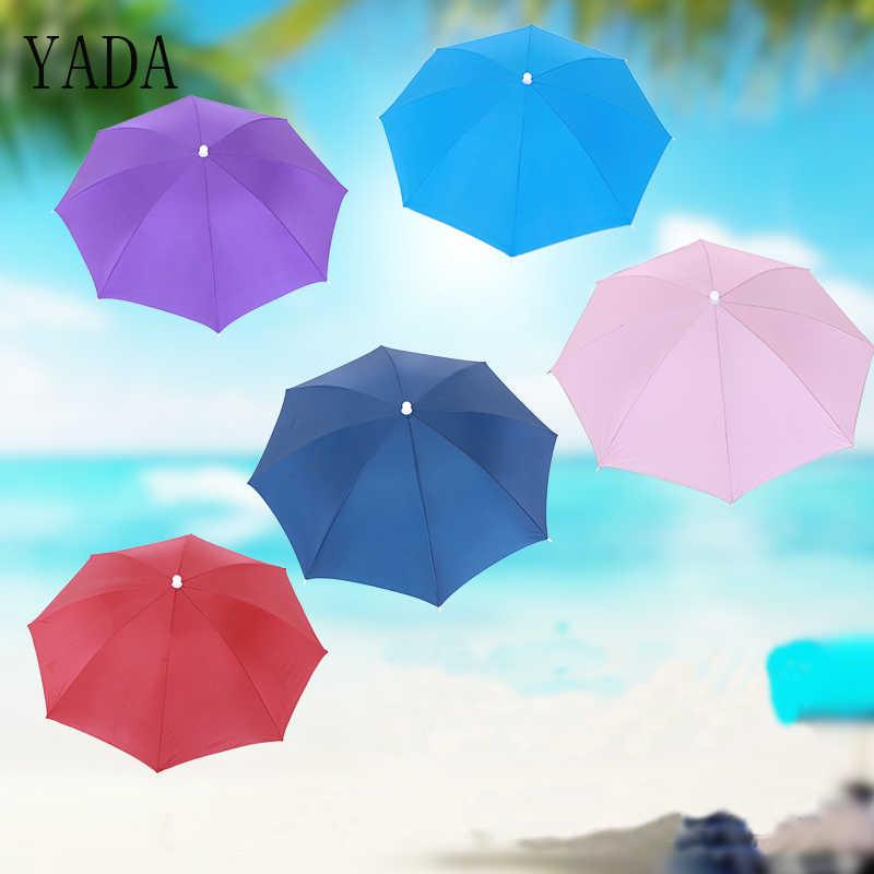 50ec56cb0cf21 YADA 50CM Foldable Fishing Hat Cap Headwear Umbrella for Womens Hiking  Beach Camping Cap Outdoor Sports