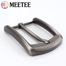 Meetee 5pcs 40mm Width Metal Belt Buckles Brushed Pin Buckle Head Mens Cowboy Hardware AccessoryDIY Leather Craft for 37-39mm