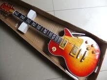 Großhandel oberste elektrische gitarre cherry sunburst ebenholz griffbrett mahagoni korpus freies verschiffen China Gitarre 110626