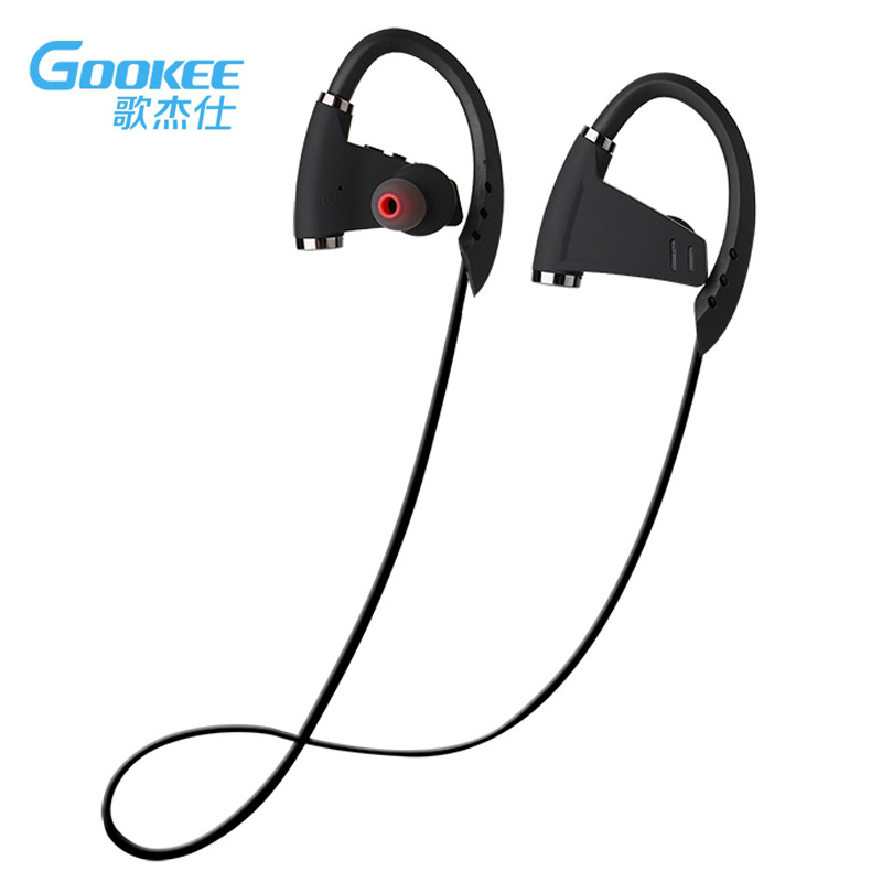 GOOKEE Bluetooth Headphones IPX4 Waterproof Wireless Headphone Sports Bass Bluetooth Earphone with Mic for Phone IPhone Xiaomi 2017 scomas i7 mini bluetooth earbud wireless invisible headphones headset with mic stereo bluetooth earphone for iphone android