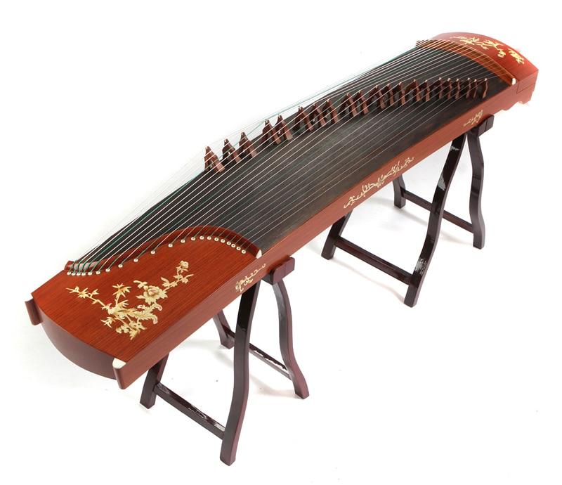 Instruments de musique authentiques guzheng en bois rouge Senior livraison gratuite par EMS