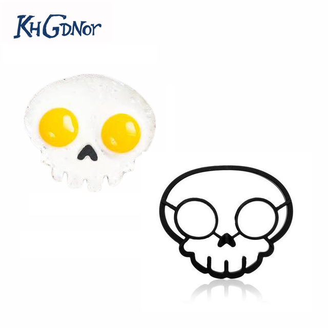 Aliexpress.com : Buy Kuso Fried Egg Silicone Mould Form Skull Fry ...