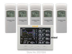 Weather-Station Data-Logger-Connect 5-Sensors Misol/wireless Color-Screen with 5-Channels