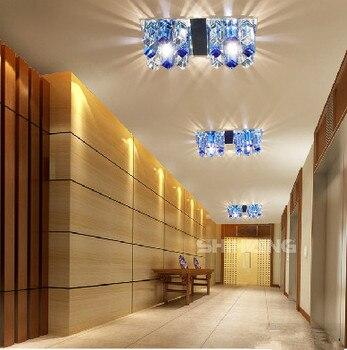 Lámpara moderna 6 W Led iluminación de techo cristal sala de estar dormitorio pasillo luces para decoración del hogar Abajur Luminaria